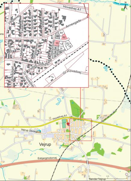 Illustration af det nye boligområde på Stationsvej - 1. etape (03.05.2016)
