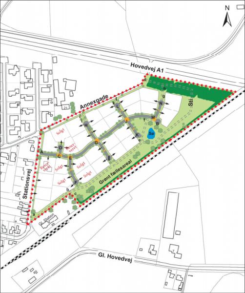 Illustration af det færdige område på Stationsvej