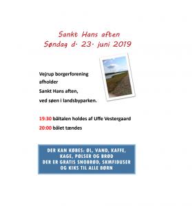 Sankt Hans aften i Vejrup 23. juni 2019 @ Vejrup landsbypark